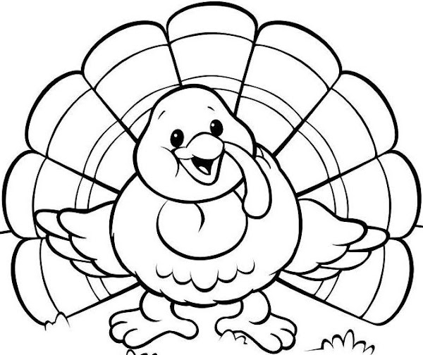 Printable Turkey Feather Coloring Pages