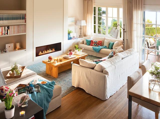 Accente turcoaz într-o frumoasă casă din Llafranc, Costa Brava