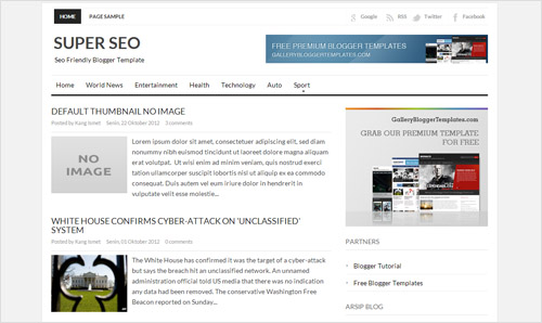 super seo - simple seo responsive blogger template