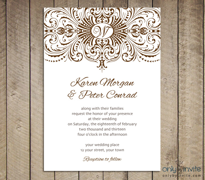 Wedding Invitations Printable Templates Free | wblqual.com