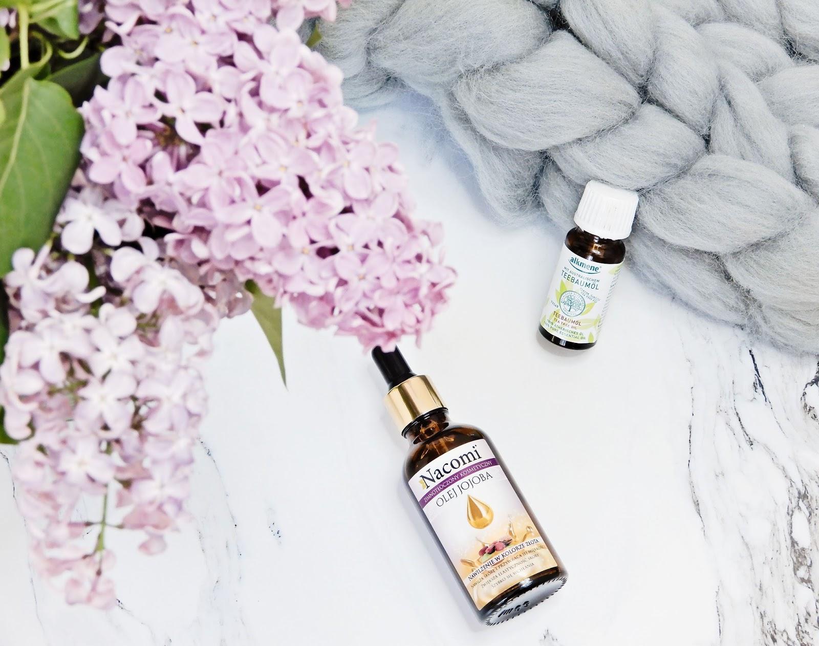 Olejek z drzewa herbacianego, olej jojoba, rozcieńczanie olejku herbacianego, olejek z drzewa herbacienago z olejem jojoba,