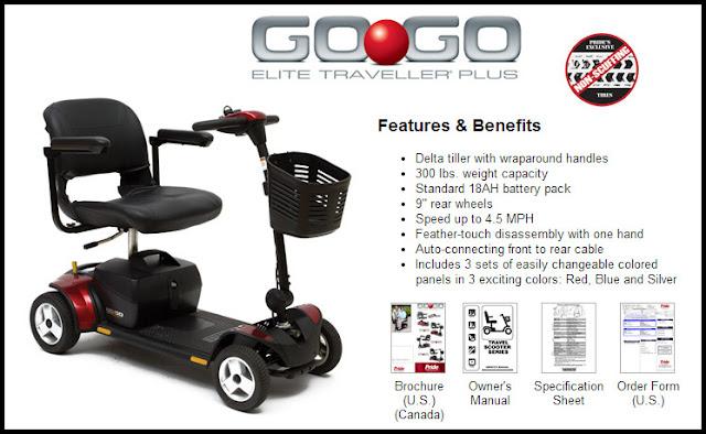 Go Go Elite Traveler Battery