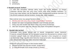 Soal dan Kunci Jawaban TPMBK Kota Yogyakarta 2018 Tahap 1 Bahasa Indonesia