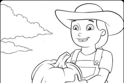 Gambar Petani Untuk Mewarnai