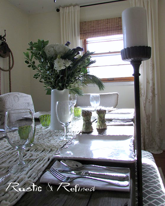 Cozy Dining Room with Winter Decor