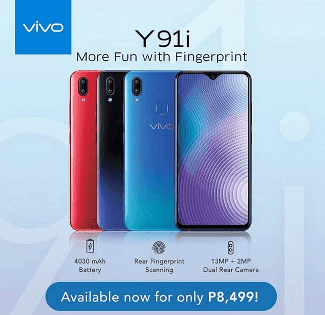 Vivo Y91i with halo notch now in the Philippines, priced at PHP 8,499