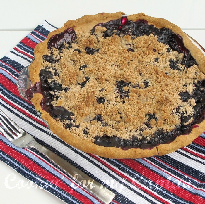 Blueberry Crumb Pie: Cookin' For My Captain: Blueberry Crumble Pie