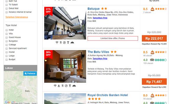pesan hotel murah di malang blibli