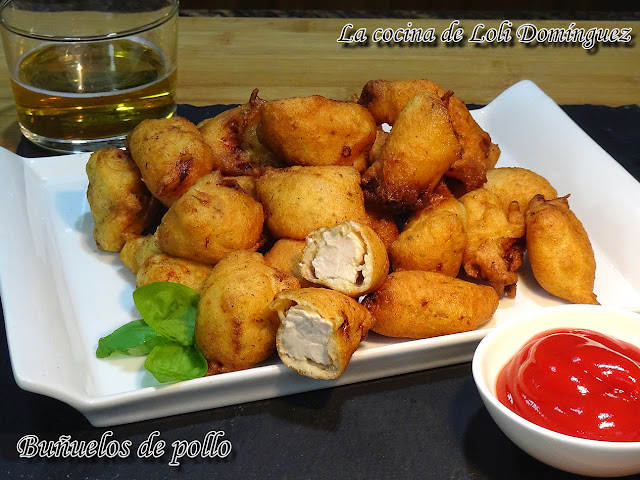 Buñuelos de pollo, súper fáciles y riquísimos