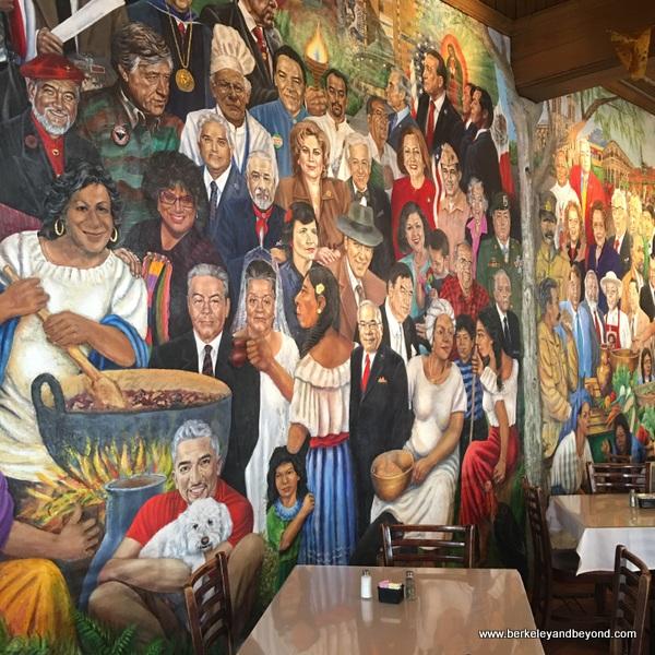 """""""American Dream"""" mural at Mi Tierra Cafe y Panaderia at Market Square in San Antonio, Texas"""