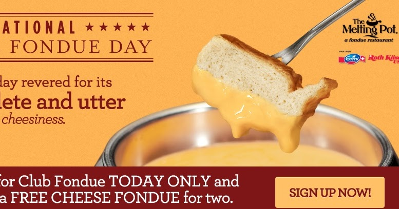 coupons and freebies free cheese fondue at the melting pot
