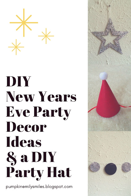 DIY New Years Eve Party Decor & Party Hat
