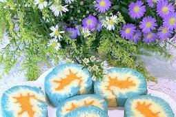 Blue Pea Hurricane Cake Roll with Pumpkin Kaya