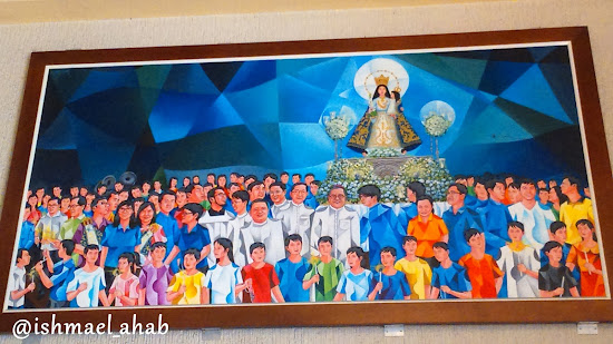 Painting depicting the procession of Our Lady of the Abandoned in Marikina CIty