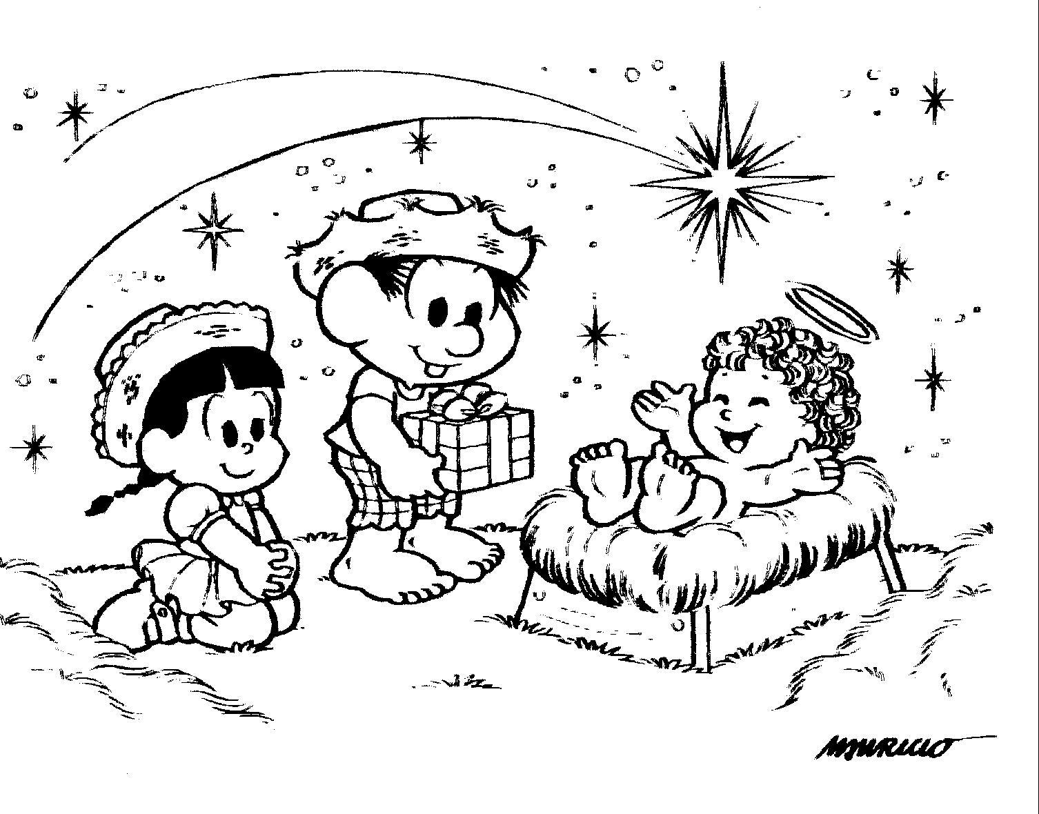 Melhor De Desenho De Natal Da Turma Da Monica Para Colorir