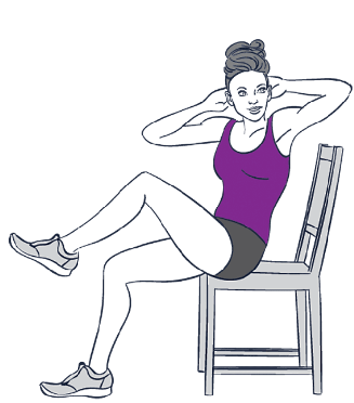 5 CHAIR EXERCISES FOR REDUCING FAT