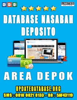 Jual Database Nasabah Deposito Depok