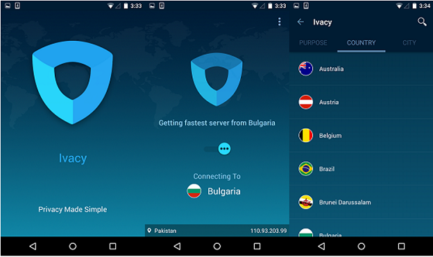 Ivacy App for Android