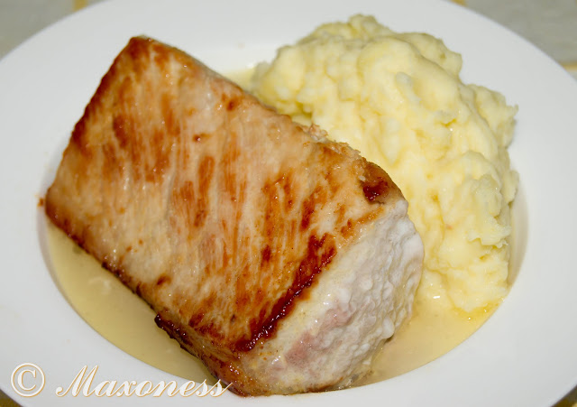 Свинина и пюре с сыром