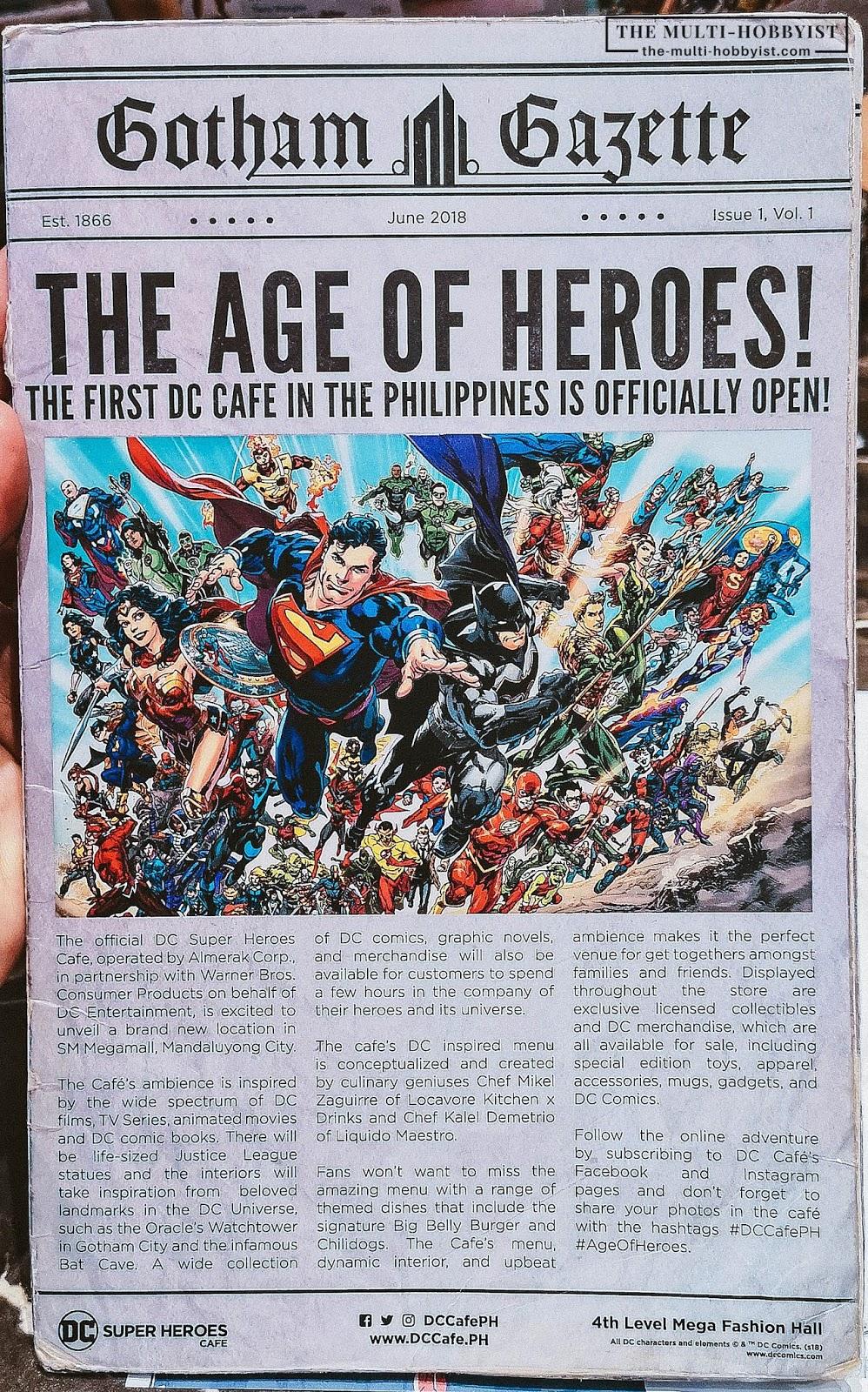 Food-ventures: DC Super Heroes Cafe Philippines | DC Cafe Megamall