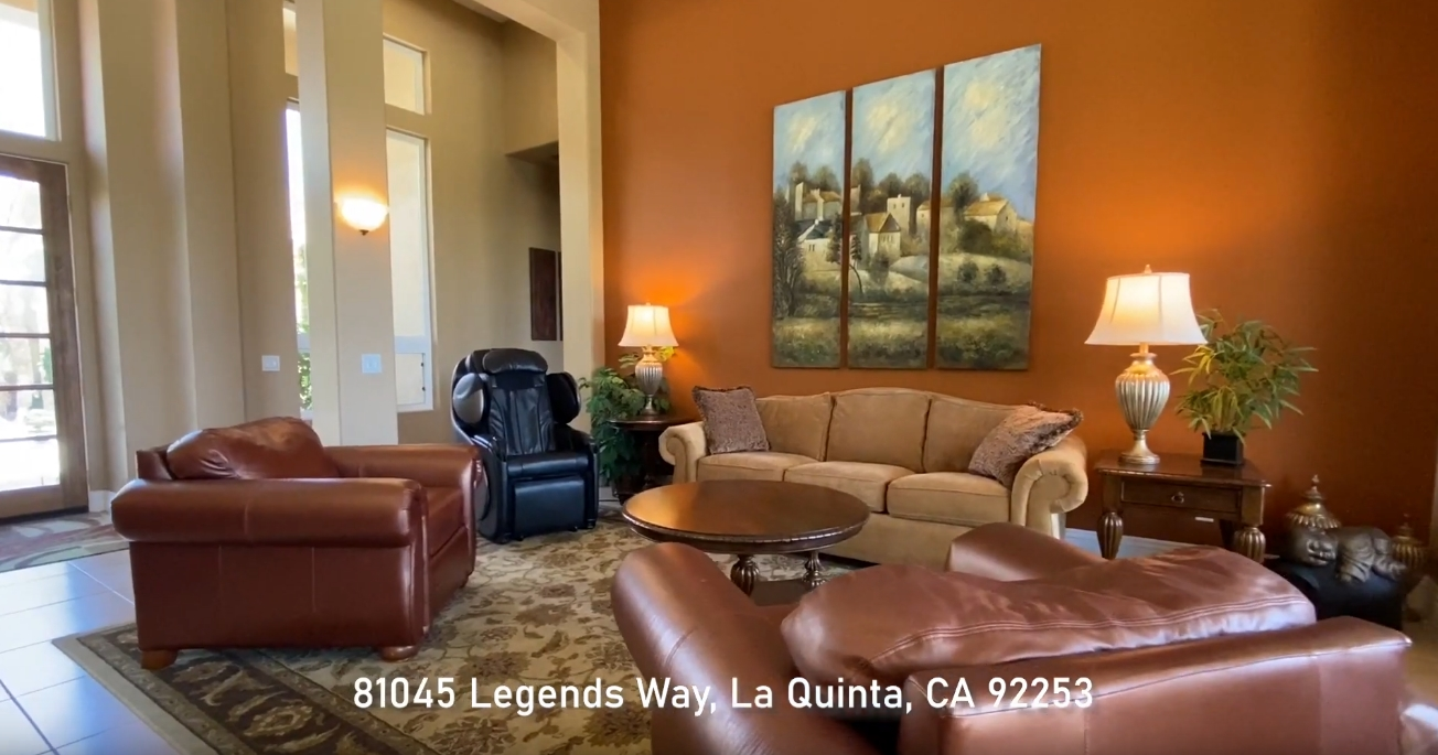 High-End Home Design Tour vs. 81945 Legends Way, La Quinta CA
