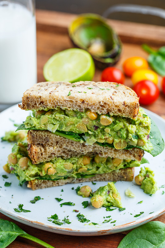 Smashed Chickpea and Avocado Sandwich on Closet Cooking