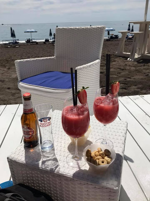 Strawberry daquiris in Positano