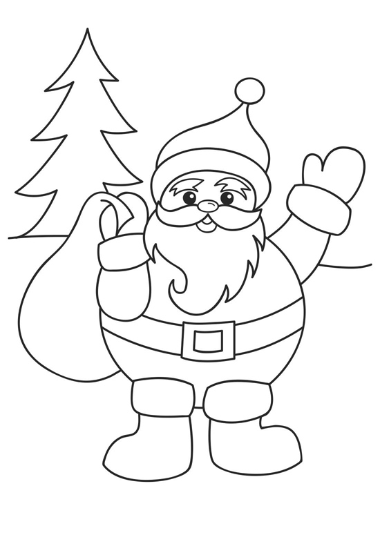 Awesome Santa Coloring Page Gallery New Printable Coloring Pages