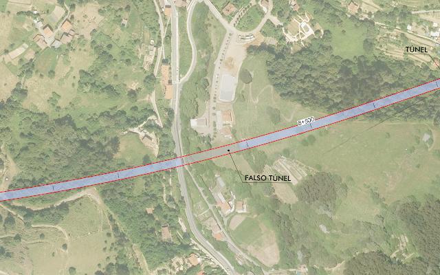 falso túnel de la VSF en Gorostiza