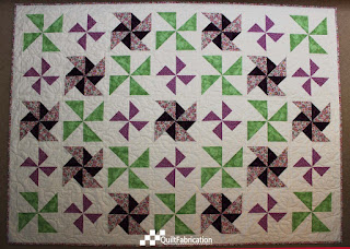 Perfect Pinless Pinwheels quilt