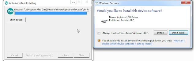 Proses Install USB Driver Arduino
