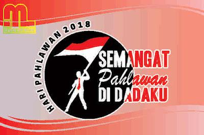 Logo, Tema, Pedoman Hari Pahlawan 2018