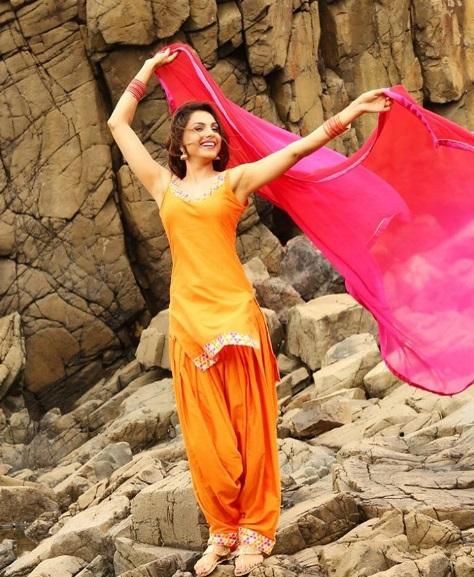 Monica Gill in Yelllow Punjabi Designer Salwar Kameez