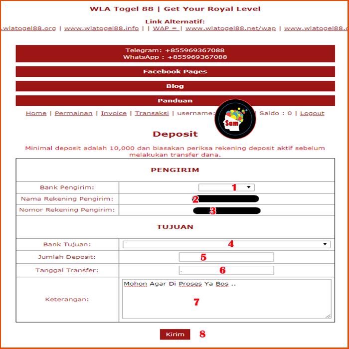 Panduan Deposit WlaTogel88