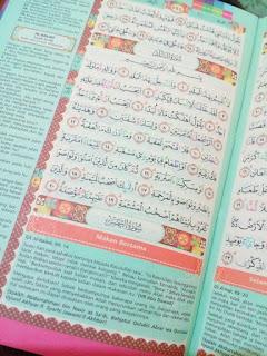 tampilan dalam Al-Quran Madina Zhafira Zipper Rainbow