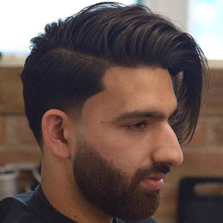 Top Long hairs with front wave