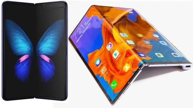 Comparison Between Samsung Galaxy Fold And Huawei Mate X