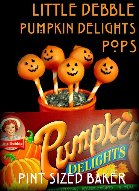 Use Little Debbie treats to make some Pumpkin Delights Cake Pops.