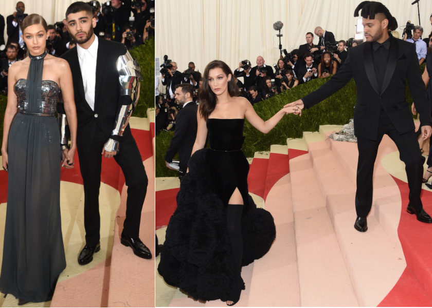 bbloggers, bbloggersca, fbloggers, fashion, style, best dressed, met gala 2016, manus x machina, red carpet, couples, hadid