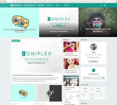 Template Blogger Igniplex Premium