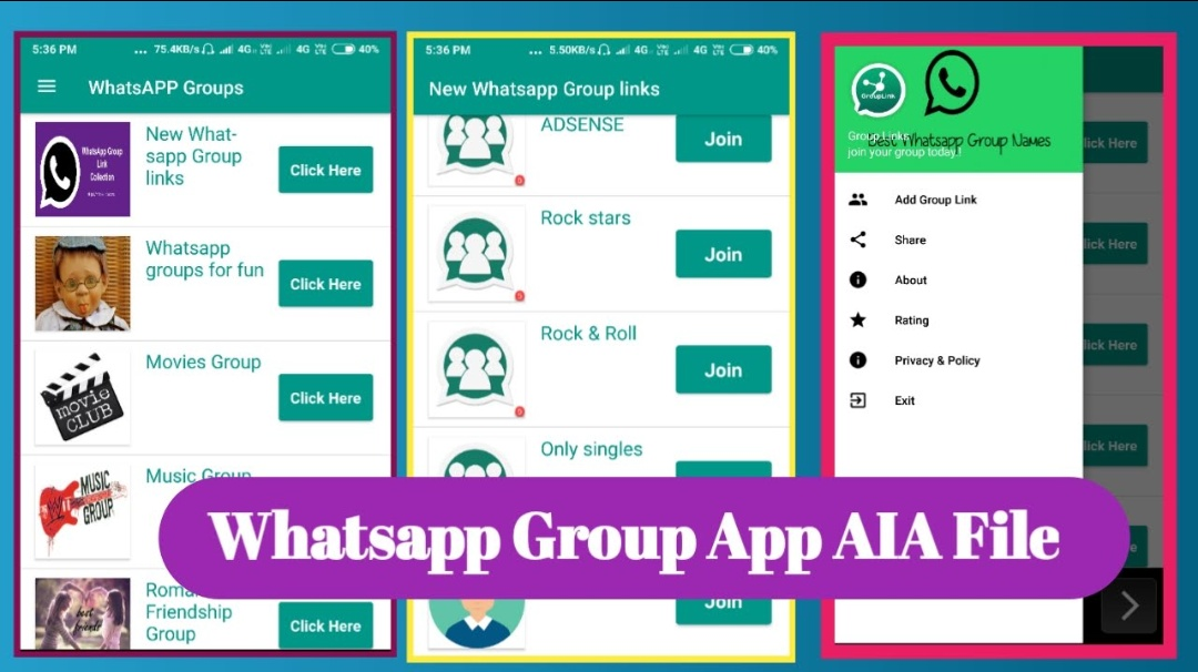 How To Download Whatsapp Group App AIA File For Free - developer