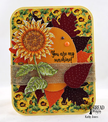 Our Daily Bread Designs Stamp Set: Be a Sunflower, Custom Dies:  Rounded Rectangles, Double Stitched Rounded Rectangles, Stitched Oval Dies, Stitched Leaves, Paper Collection: Follow the Son