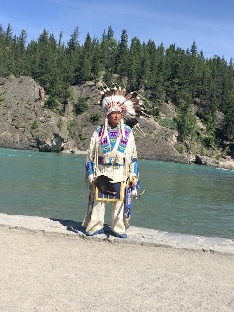 bow river, bowfall, nativeamerican, banff, nationalpark