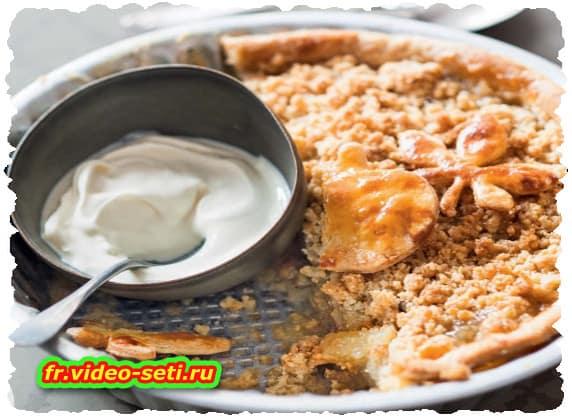 Crumble pie aux pommes et coings