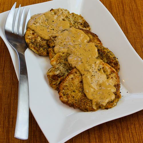 Low-Carb Turkey Cutlets with Dijon Sauce found on KalynsKitchen.com