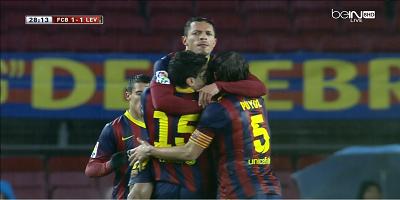 Copa Del Rey : Barcelona 5 vs 1 Levante 30-01-2014