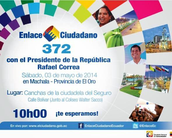Cadena Sabatina de Correa 372 del sabado 3 de mayo de 2014