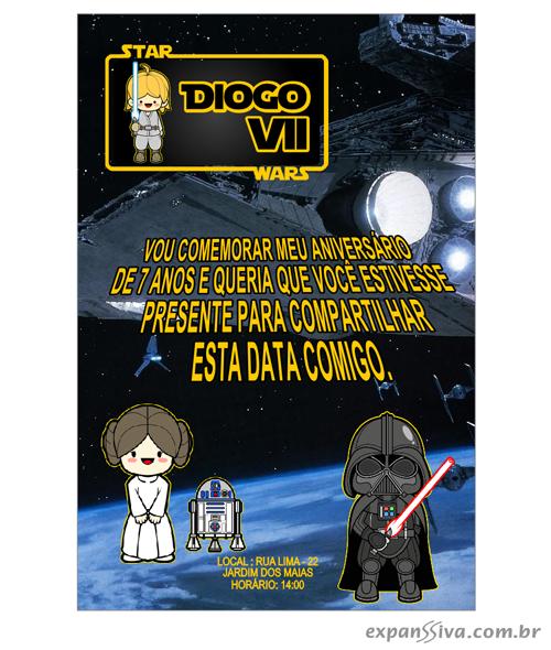 Convites de Aniversário do Star Wars 3