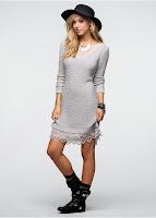 Rochie tricotată cu dantelă