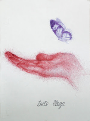 """dibujo"",""ilustración"",""draw"",""illustration"",""ilustrador"",""bolígrafo"",""pen"",""ink"",""mano"",""hand"",""mariposa"",""butterfly"",""hope"",""esperanza"",""contemporary"",""arte"",""art"""